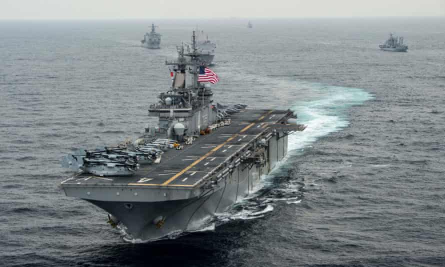 Trump said the USS Boxer took action after the drone came within 1,000 yards.