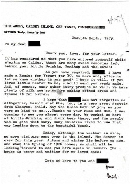 Letter from Thaddeus Kotik September 1979