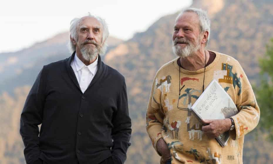 Jonathan Pryce (left) and Terry Gilliam on the set of The Man Who Killed Don Quixote.