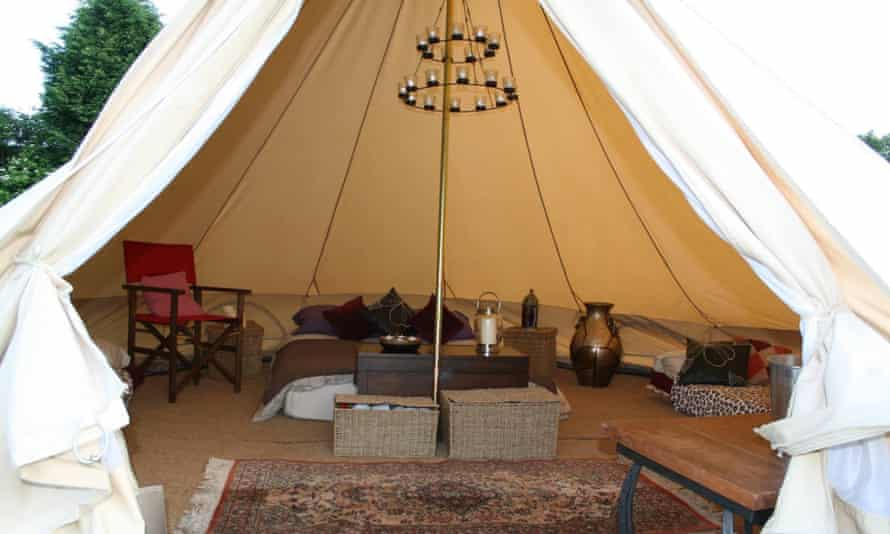 Luxury bell tent at Home Farm