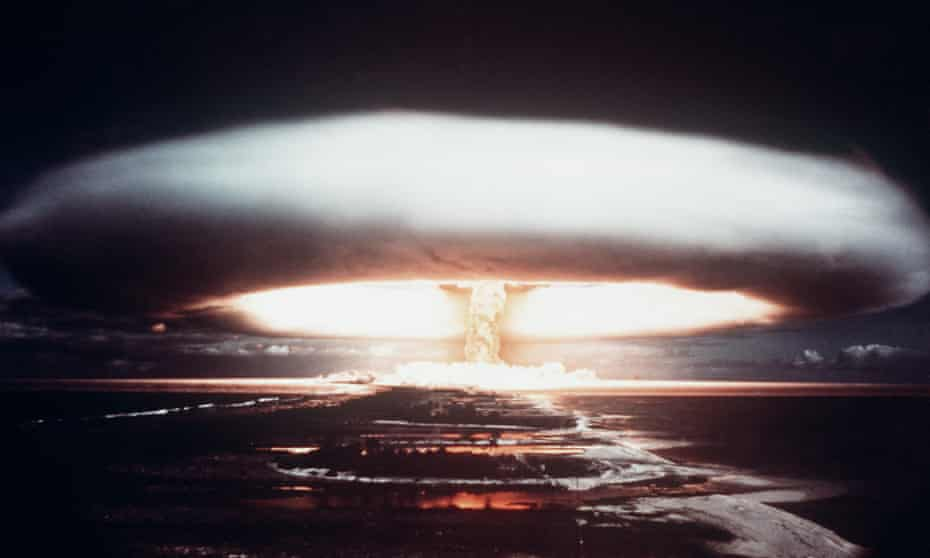 'They've had it coming to them for a long time' … a nuclear explosion.
