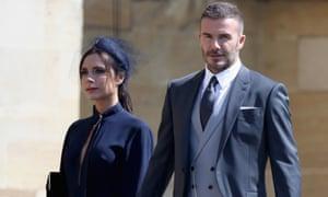 Victoria and David Beckham at the royal wedding