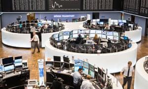 The trading floor of the Frankfurt exchange