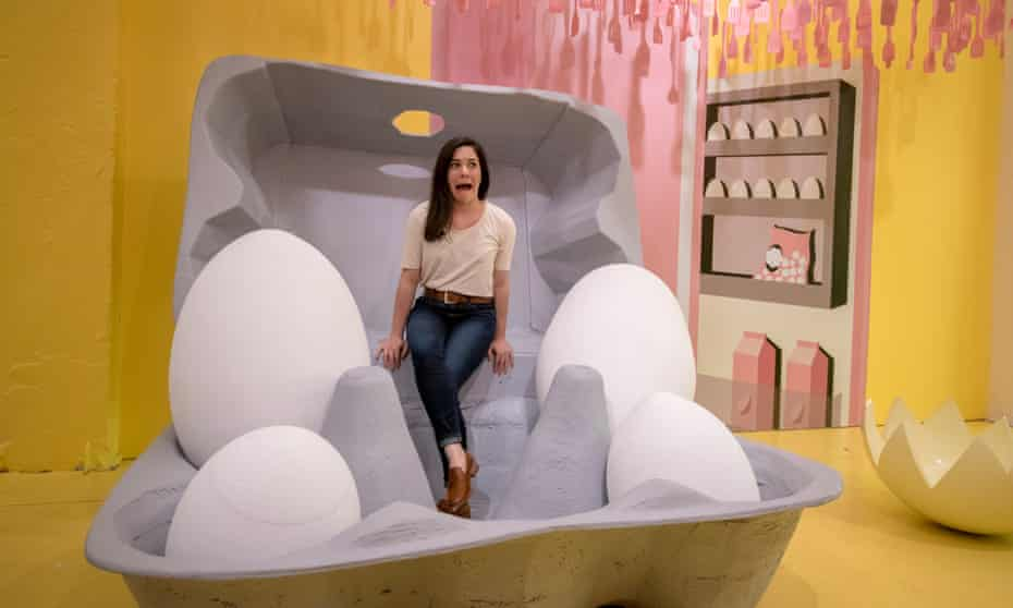 'The Egg House is more of a funhouse rather than an exhibit,' said Biubiu Xu, founder of the Egg House.