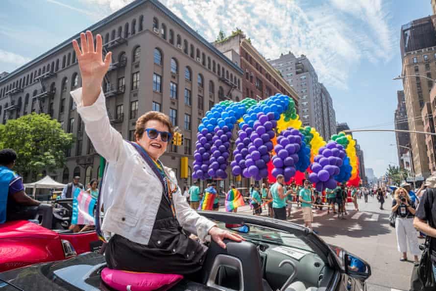 Billie Jean King at New York City Pride in 2018.