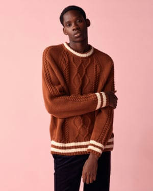 British artist and designer Luke Edward Hall's collection for Gant features a preppy take on a chunky cable-knit. Jumper, £185, gant.co.uk