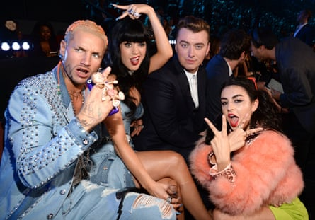 Riff Raff, Katy Perry, Sam Smith and Charli XCX at the 2014 MTV Video Music Awards 2014 in Inglewood, California