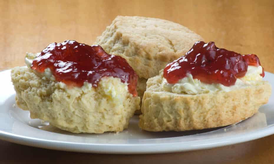 Jam with cream tea.