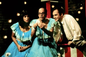 with Sarah Silverman and David Cross in Mr Show.