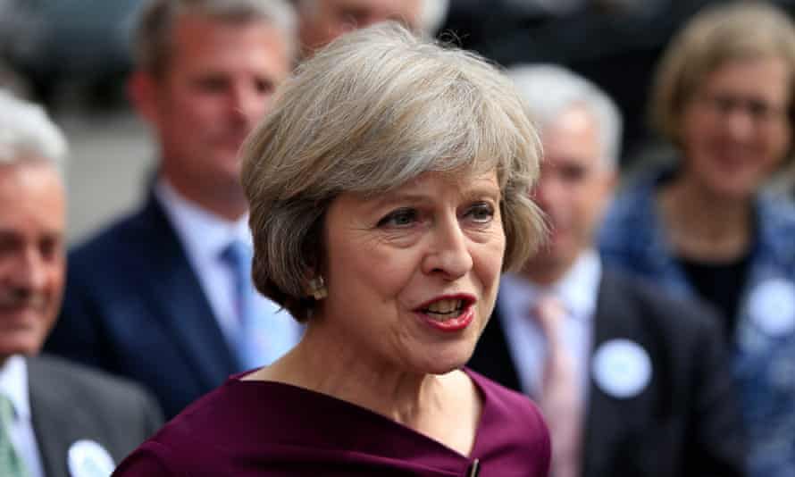 Home secretary Theresa May:'She is so obviously cast as the nation's nanny. She will be tough but fair.'