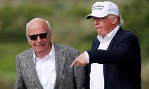 Rupert Murdoch and Donald Trump in June 2016