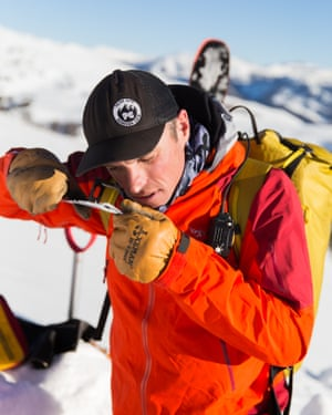 'Below a certain point you even stop shivering': Jimmy Tart assessing snow stability in the Uinta Mountains, Utah.