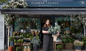 Florist Siân Wild at her shop, The Flower Lounge.