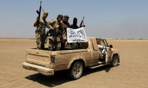 Jabhat Fateh al-Sham fighters in Idlib province