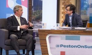Nigel Farage on Peston on Sunday.