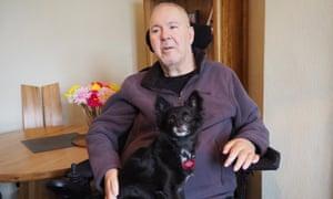 Paul Lamb with his chihuahua, Freddie.