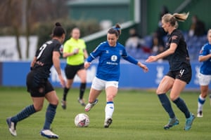 Hayley Raso of Everton in action