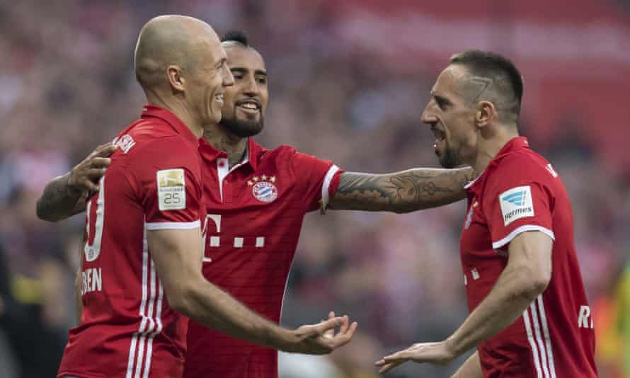 Arjen Robben (left) and Franck Ribery (right) have formed one of the great partnerships in world football.