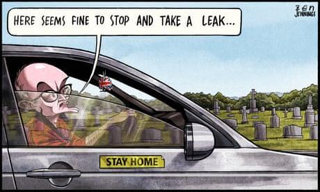 Ben Jennings on Dominic Cummings' roaming charge – cartoon