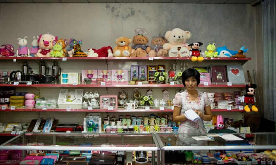 A North Korean shopkeeper in Pyongyang. The North Korean capital is more affluent than other parts of the country, but what's it like to live there?