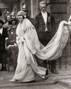 Elizabeth Angela Marguerite Bowes-Lyon, 1900 –2002. Future Queen Elizabeth, The Queen Mother. Wife of King George VI and the mother of Queen Elizabeth II. Seen here on her wedding day in 1936. From The Duchess of York, published c.1928. (Photo by: Universal History Archive/UIG via Getty Images)