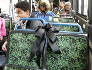 After Rosa died in 2005, buses in Detroit and Alabama honoured her by reserving the front seat as a tribute to her legacy.