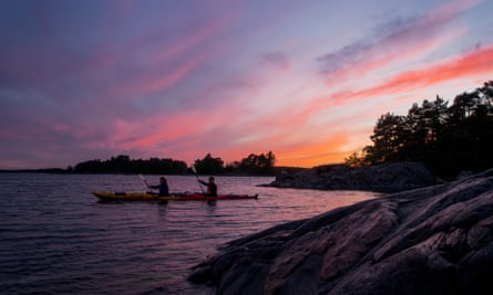 Kayaking with Much Better Adventures.