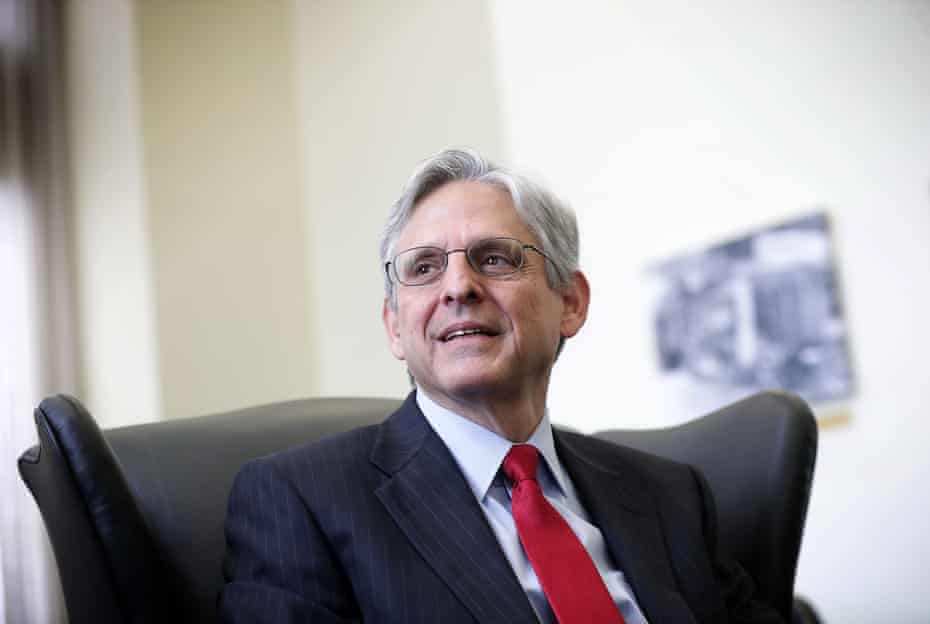 Merrick Garland during a meeting with U.S. Sen. Brian Schatz (D-HI) May 10, 2016 on Capitol Hill in Washington, DC.