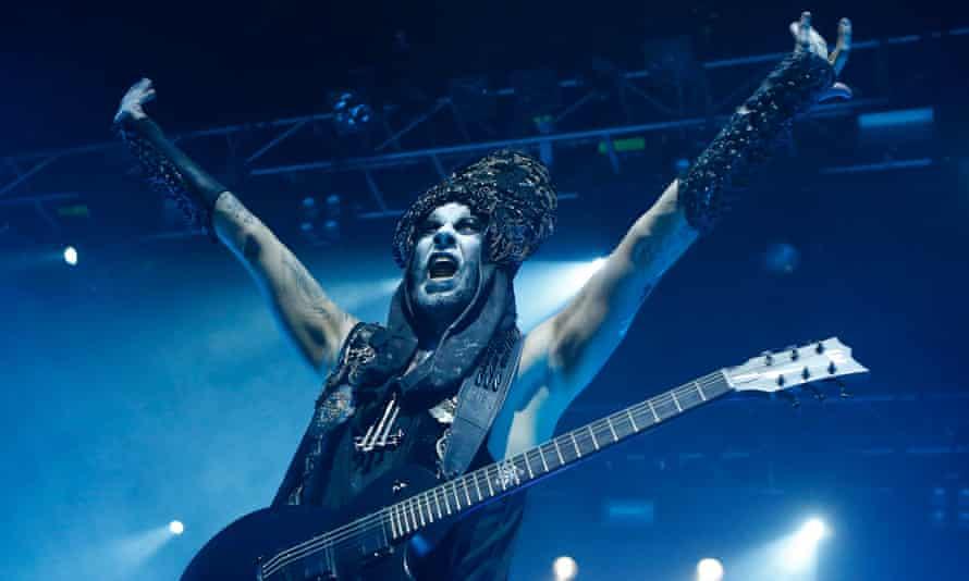 "Adam ""Nergal"" Darski of Behemoth at the Forum, London on Friday."