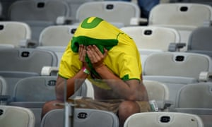 The 7-1 defeat by Germany in the 2014 World Cup semi-final left Brazil fans in deep shock.