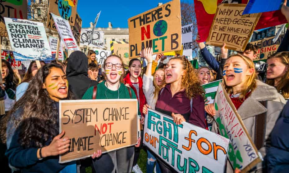 School students go on strike over the lack of action on climate change