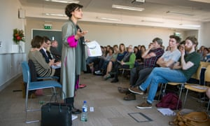 Thangam Debbonaire at a hustings debate on education with candidates for Bristol West in April 2015.
