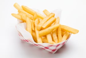 Hot, crispy and slippery with vinegar: the hot chips you get at a swimming pool.