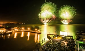 Fireworks light up the sky over the Humber River during the official opening of Hull's tenure as UK City of Culture.