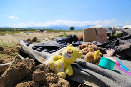 A refugee site of Idomeni on the northern border of Greece is now evacuated and empty.