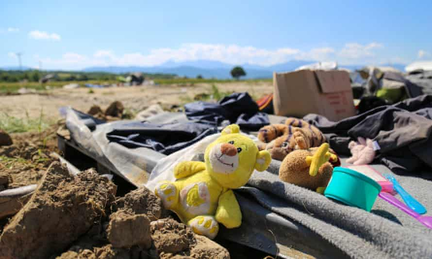 Refugee site in Idomeni, Greece