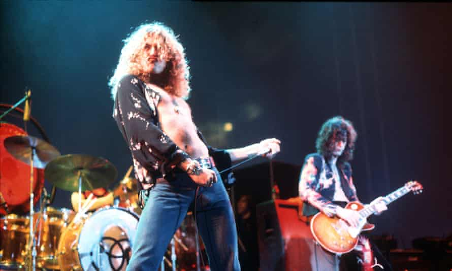 Robert Plant and Jimmy Page … a Guardian-reader WFH staple.