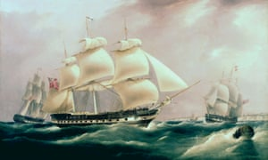An East Indiaman ship dating from 1815