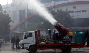 Anti-smog cannons were trialled in New Delhi last year.