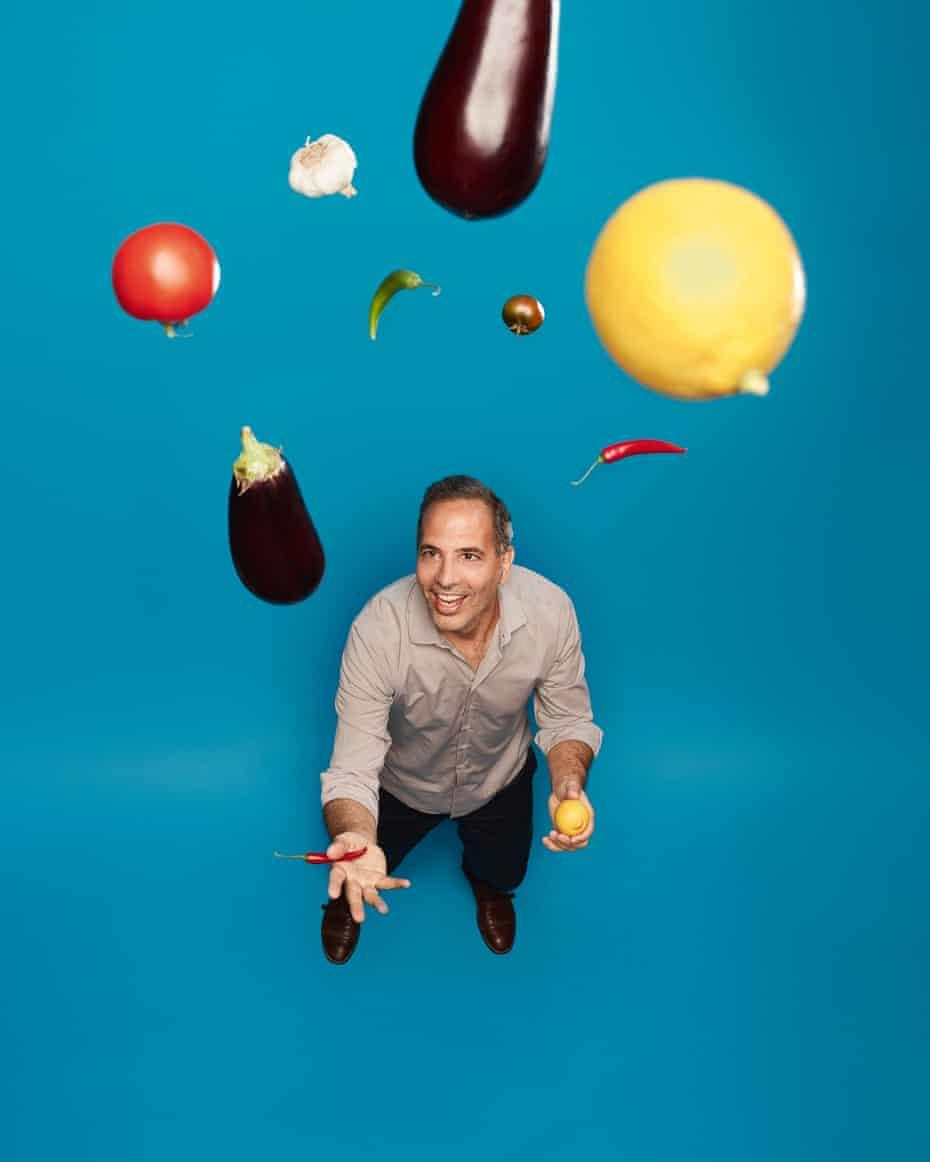 Yotam Ottolenghi juggling food