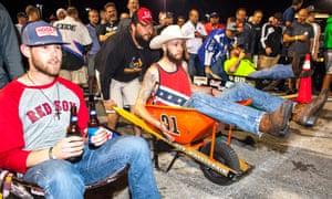 Daytona wheelbarrow races