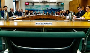 Mark Zuckerberg's empty chair in Parliament.
