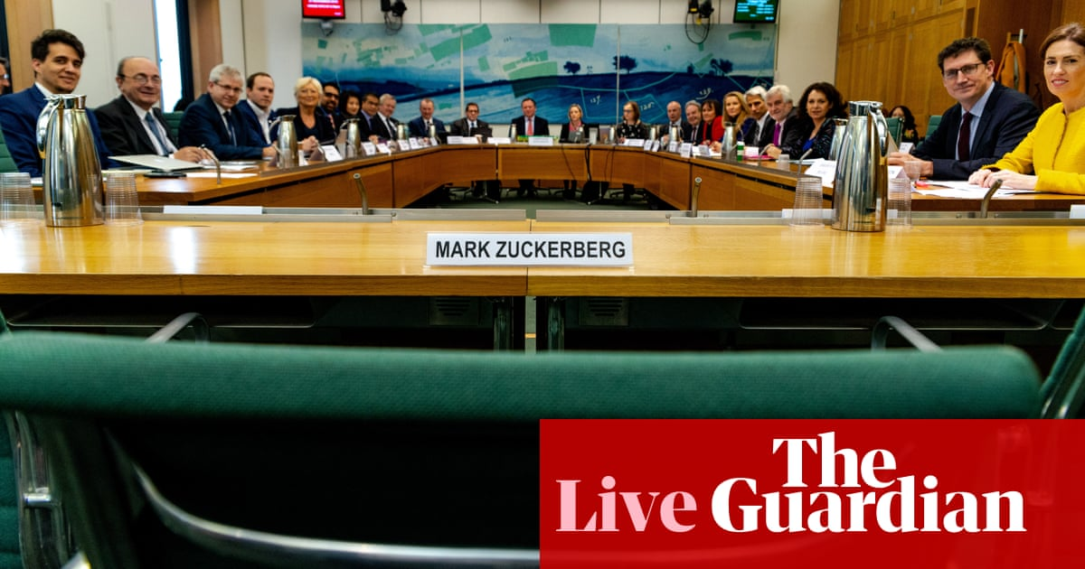 Fake news inquiry: Facebook questioned by MPs from around the world – as it happened