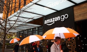 The Amazon Go store has no cashiers or checkouts