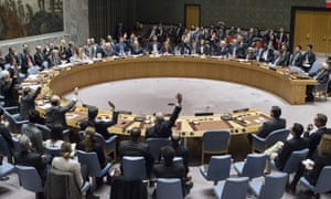 Members of the United Nations Security council vote in favour of condemning Israel for building settlements in the West Bank and east Jerusalem.