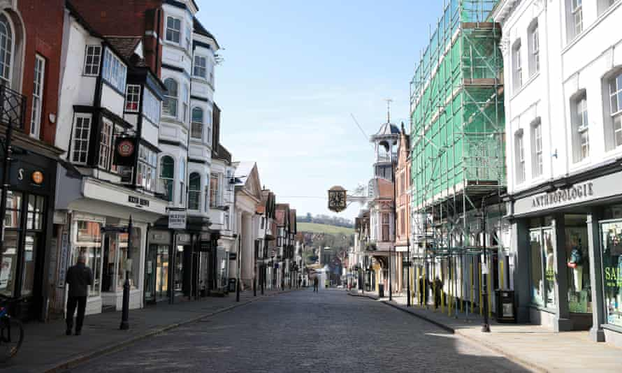 Guildford high street the day after Boris Johnson put the UK in lockdown in late March.