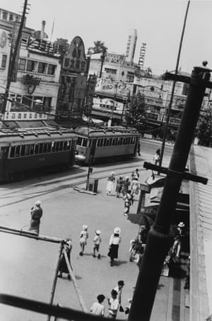 Morning outside Ueno Station, 1936. Kineo Kuwabara's parents were pawnbrokers. As a teenager he taught himself photography and would spend his spare time roaming the streets of Tokyo with his camera. This is first time his images have been exhibited in the West