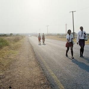 Homeland: Road divide Gauteng and North West Province, Hamaskraal, former Bophuthatswana (2011)