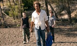Jacob Lofland, Matthew McConaughey and Tye Sheridan.