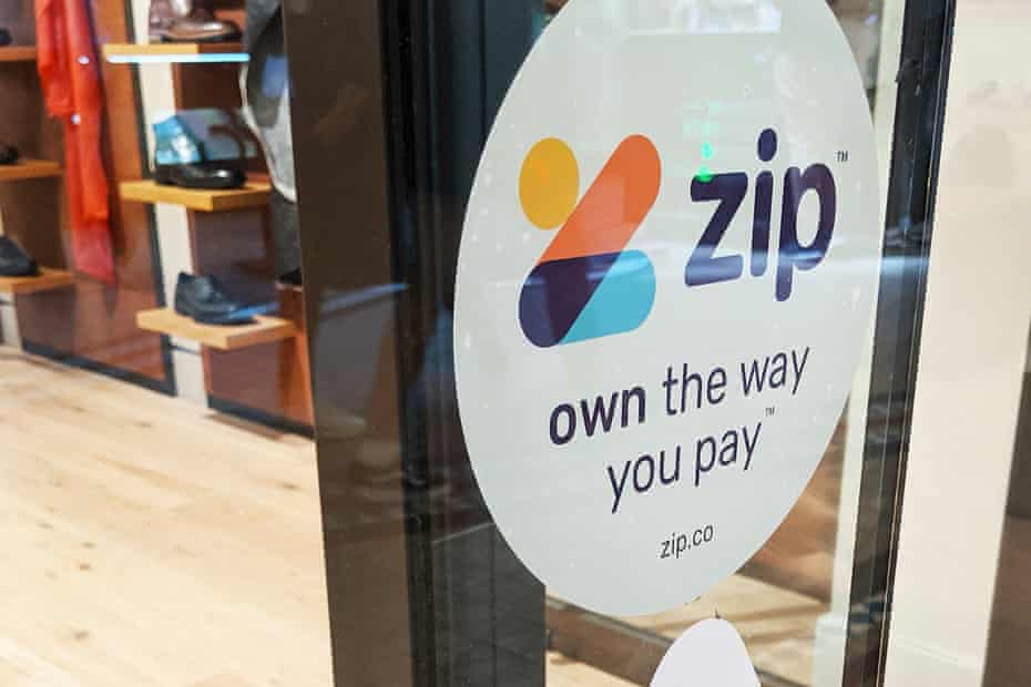 Zip signage on a shop in Sydney. The company's co-founder Peter Gray says it has a lower proportion of people falling behind on their payments than credit cards.